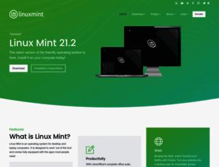 linuxmint.com screenshot