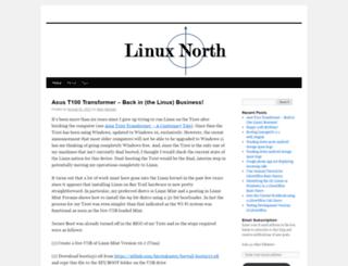 linuxnorth.wordpress.com screenshot