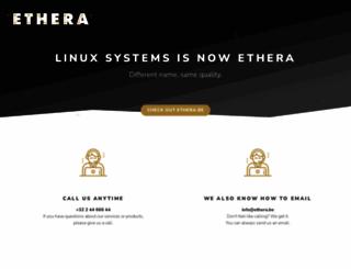 linuxsystems.be screenshot