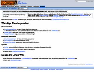 linuxwiki.de screenshot