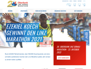 linz-marathon.at screenshot