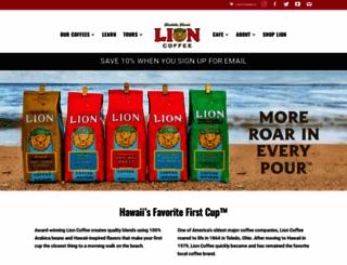 lioncoffee.com screenshot