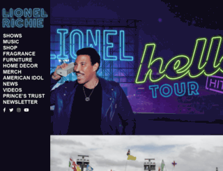lionelrichie.com screenshot