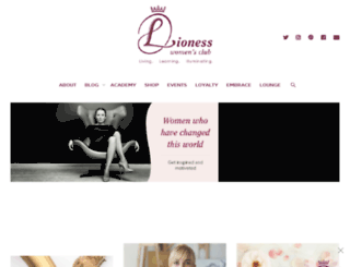 lionesswomansclub.com screenshot