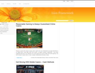 lionframework.org screenshot