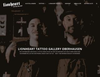 lionheartgallery.de screenshot