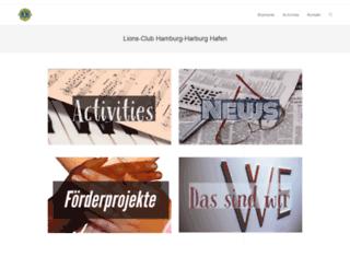 lions-club-hamburg-harburg-hafen.de screenshot