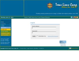 lionscamp.campintouch.com screenshot