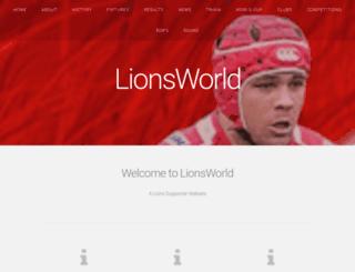 lionsworld.co.za screenshot