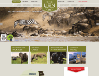lionworldtravel.com screenshot
