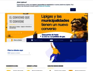 lipigas.cl screenshot