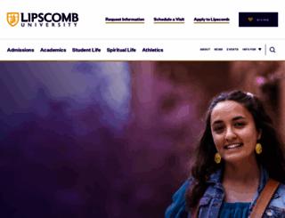 lipscomb.edu screenshot