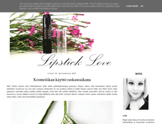 lipstickklove.blogspot.fi screenshot