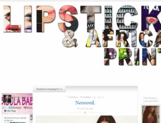 lipsticksnprints.blogspot.com screenshot
