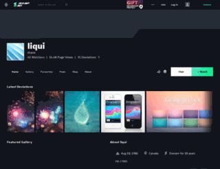 liqui.deviantart.com screenshot