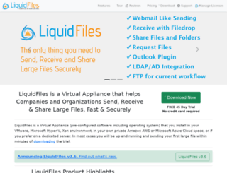 liquidfiles.net screenshot
