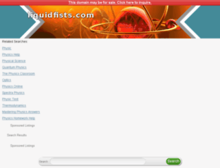 liquidfists.com screenshot