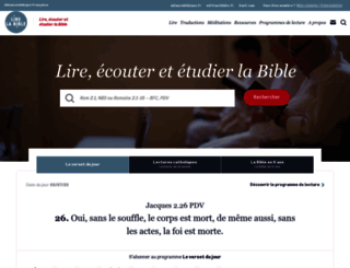 lire.la-bible.net screenshot