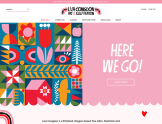 lisacongdon.com screenshot
