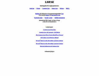 lisp.se screenshot