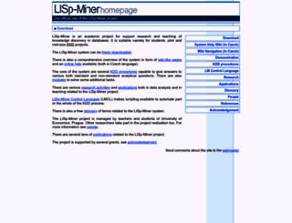 lispminer.vse.cz screenshot