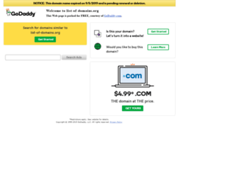 list-of-domains.org screenshot