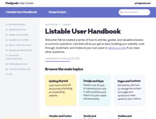 listable-help.pixelgrade.com screenshot