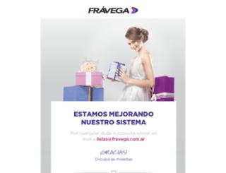 listas.fravega.com screenshot