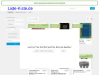 liste-kiste.de screenshot