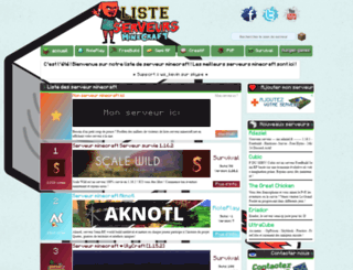 liste-serveur-minecraft.net screenshot