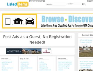 listeditems.com screenshot