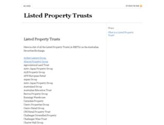 listedpropertytrusts.com.au screenshot