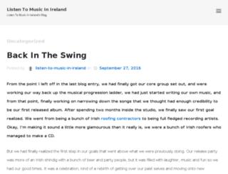 listen-to-music-in-ireland.com screenshot