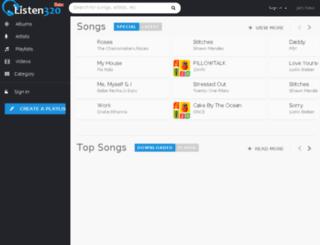listen320.com screenshot