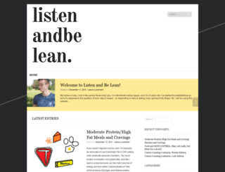 listenandbelean.wordpress.com screenshot