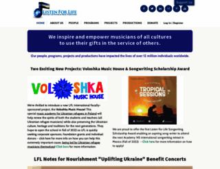 listenforlife.org screenshot