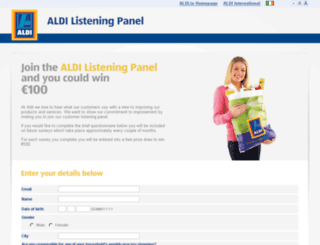 listening.aldi.ie screenshot