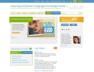 listeningandspokenlanguage.org screenshot