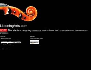 listeningarts.com screenshot