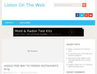listenontheweb.com screenshot