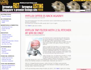 listings.com.sg screenshot