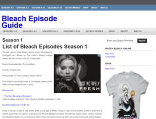 listofbleachepisodes.com screenshot