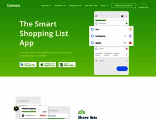 listonic.com screenshot