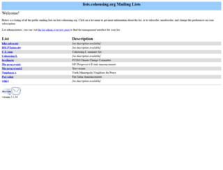 lists.cohousing.org screenshot