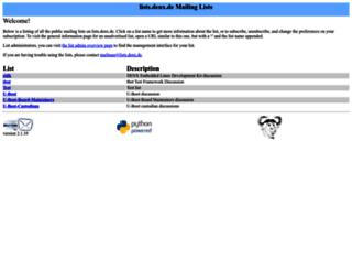 lists.denx.de screenshot