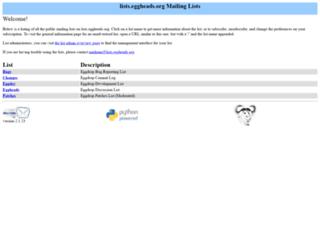 lists.eggheads.org screenshot