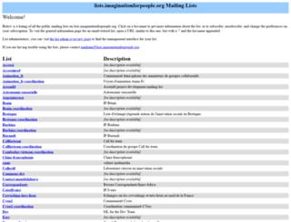 lists.imaginationforpeople.org screenshot