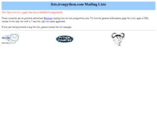 lists.ironpython.com screenshot