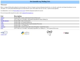 lists.kamailio.org screenshot