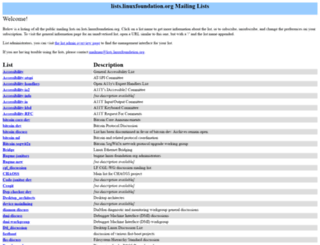 lists.linuxfoundation.org screenshot